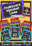 Chalkboard Alphabet Lines-in print & cursive (ZB)