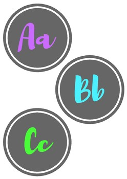 Chalkboard Alphabet & Number Line (0-20)