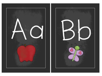 Chalkboard Alphabet & Numbers {white}