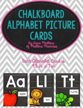 Chalkboard Alphabet Picture Cards