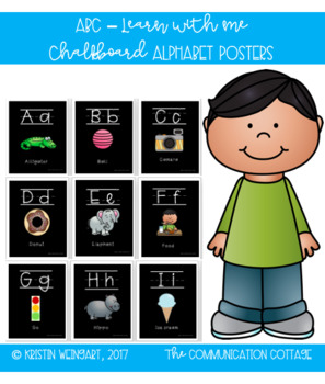 Alphabet Poster (Chalkboard)