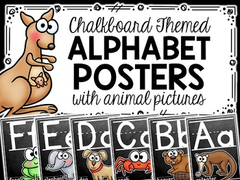 Animal Alphabet Posters {Chalkboard Theme}