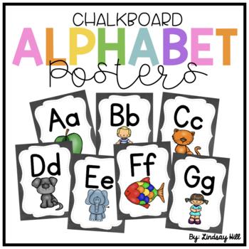 Chalkboard Alphabet Posters
