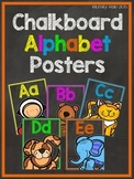 Chalkboard Alphabet Posters - Bold and Bright