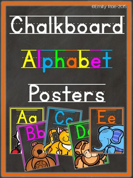 Chalkboard Alphabet Posters - Bold and Bright - MANUSCRIPT
