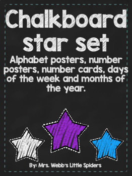 Chalkboard Alphabet Posters and More