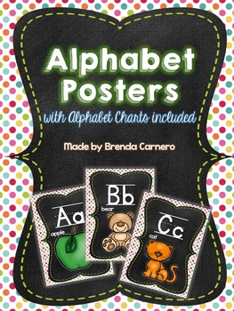 Chalkboard Alphabet Posters with Alphabet Chart