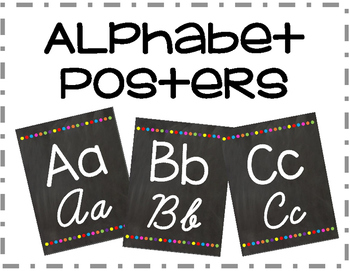 Chalkboard Alphabet Posters with Print and Cursive