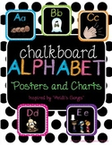 Chalkboard Alphabet Posters/Charts