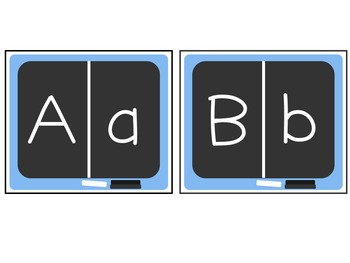 Chalkboard Alphabet Puzzles