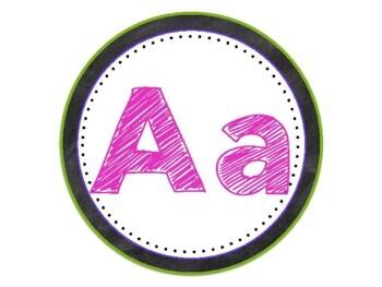 Chalkboard Alphabet Set