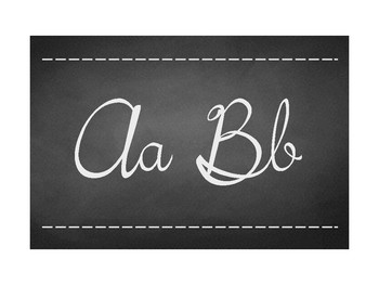 Chalkboard Alphabet Topper (Cursive)