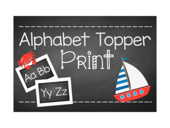 Chalkboard Alphabet Topper (Print)