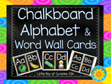 Chalkboard Alphabet & Word Wall Cards
