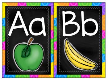 Chalkboard Alphabet & Word Wall Cards