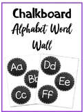 Chalkboard Alphabet Word Wall Headers