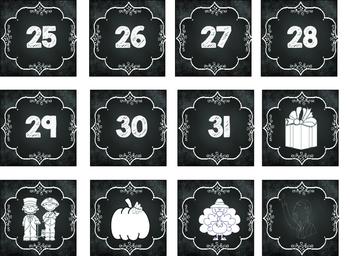 Chalkboard Alphabet and Calendar Set