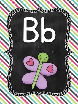 Chalkboard Alphabet and Number Line