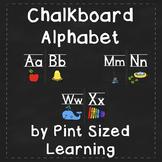 Chalkboard Alphabet