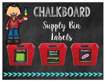 Chalkboard Arrow Themed Supply Labels