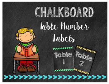 Chalkboard Arrow Themed Table Caddy Labels