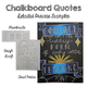 Chalkboard Art Posters - Colored Pencil Graphic Design Project - Emphasis, Unity