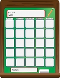Chalkboard Attendance Sheet for student