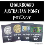 Chalkboard Australian Money Posters {coins & notes)