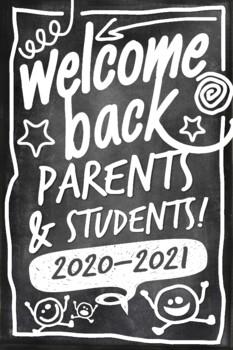 Chalkboard Back to School Poster