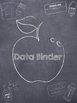 Chalkboard Background Black and White Binder Covers
