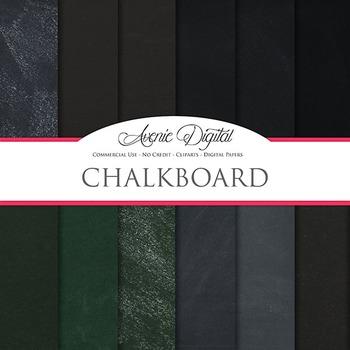 Chalkboard Background Textures Digital Paper scrapbook back to school
