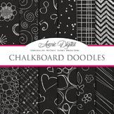 Chalkboard Background Textures Digital Paper scrapbook back to school doodles