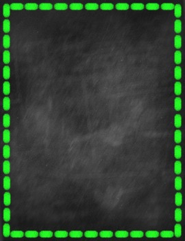 Chalkboard Backgrounds and Border Prints {Personal & Commercial Use}