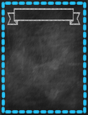 Chalkboard Backgrounds and Border Prints {Personal & Comme