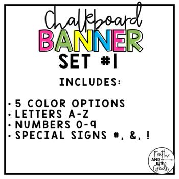 Chalkboard Banner Set # 1
