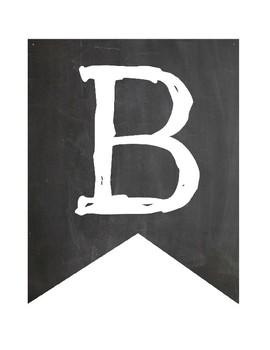Chalkboard Banner A-Z
