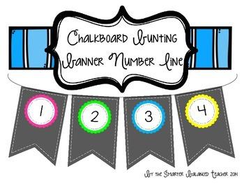 Chalkboard Banner Number Line