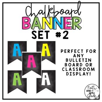 Chalkboard Banner Set #2