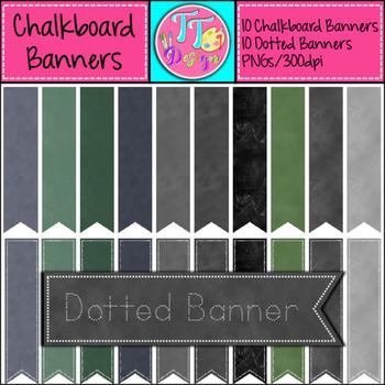 Chalkboard Banners Clip Art CU OK