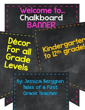 Chalkboard Banners Welcome to... Set 2