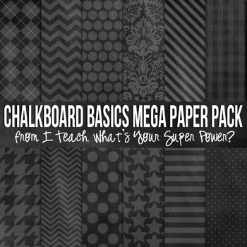 Chalkboard Basics Digital Paper Pack