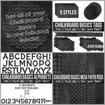 Chalkboard Basics Mega Bundle