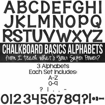 Chalkboard Basics Set of 3 Alphas