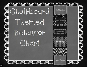 Chalkboard Behavior Chart