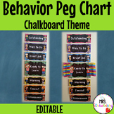 Chalkboard Behavior Reward Peg Chart   Clip Chart **Editable**