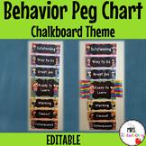 Chalkboard Behavior Reward Peg Chart EDITABLE