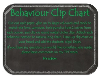 Chalkboard Behaviour Clip Chart