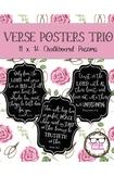 Chalkboard Bible Verse Posters