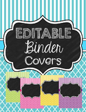 Chalkboard Binder Covers Editable