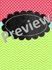 Chalkboard Binder Covers & Spine Coves {Edtable} Lime, Teal, Pink